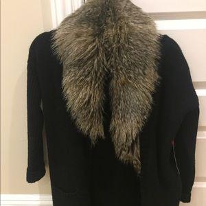 Cynthia Rowley faux fur cardigan